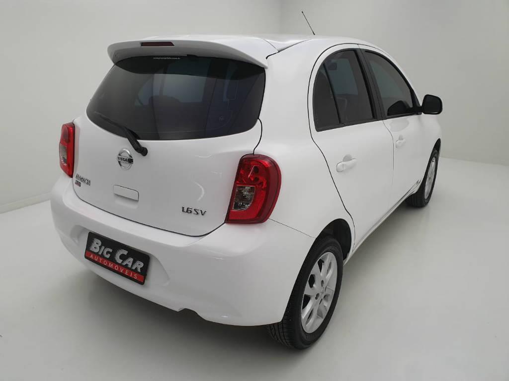 Foto numero 3 do veiculo Nissan March 1.6 SV - Branca - 2019/2020