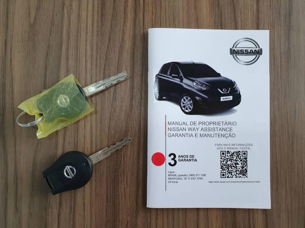 Foto numero 14 do veiculo Nissan March 1.6 SV - Branca - 2019/2020
